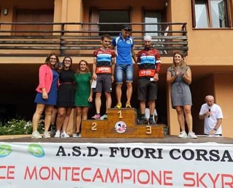 Podio Monte campione sky race