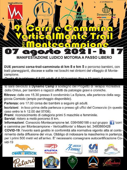 CSI Brescia – Il 7 agosto si sale a Montecampione per la VerticalMonte Trail